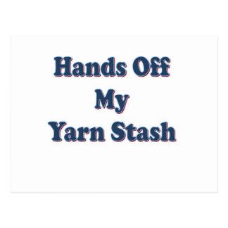 Hands off My Yarn Stash Postcard