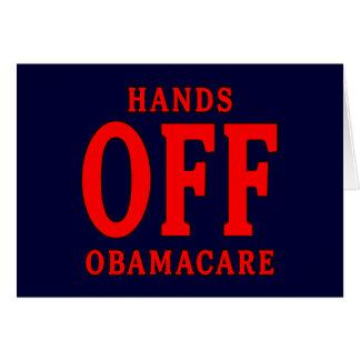 HANDS OFF OBAMACARE CARD