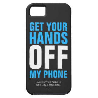 Hands OFF Phone Personalized Blue iPhone SE/5/5s Case