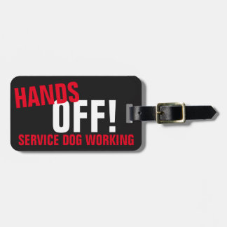 HANDS OFF! SERVICE DOG BAG TAG