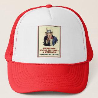Hands Off Social Security Trucker Hat