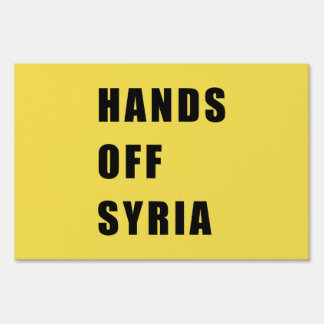 Hands off Syria Sign