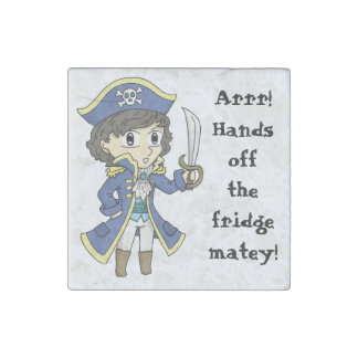 Hands off the fridge! - Pirate stone magnet