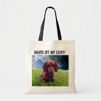 Hands Off Tote Bag