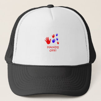 hands off trucker hat