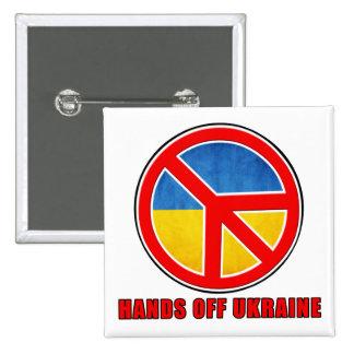 Hands Off Ukraine Pinback Button