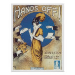Hands Off! Vintage Songbook Cover Poster
