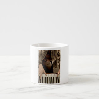 Hands on a Keyboard Espresso Cup