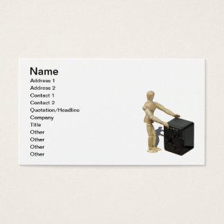 Hands on bank vault business card