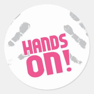 Hands On! Classic Round Sticker