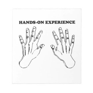 Hands-on experience memo pad