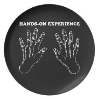 Hands-on experience plate
