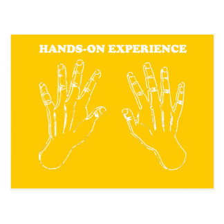 Hands-on experience postcard