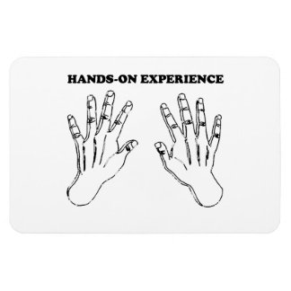 Hands-on experience rectangular photo magnet