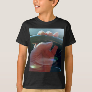 Hands on Steering Wheel Artistic Photography T-Shirt