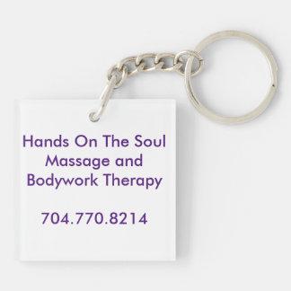 Hands On The Soul Tagline Keyring
