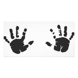 hands custom photo card
