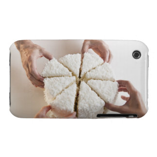 Hands pulling slices from cake iPhone 3 Case-Mate case
