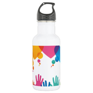 Hands Reaching For Love 18oz Water Bottle