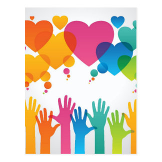 Hands Reaching For Love Postcard