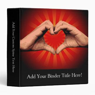 Hands Shape Heart 3 Ring Binders