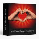 Hands Shape Heart Binders