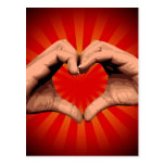 Hands Shape Heart Post Cards