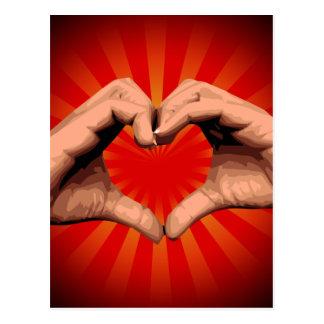 Hands Shape Heart Postcard