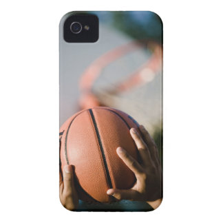 Hands shooting basketball outdoors Case-Mate iPhone 4 case
