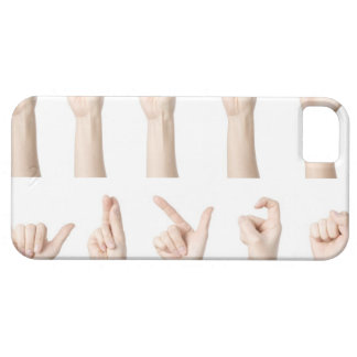 Hands showing Chinese way of counting iPhone 5 Cases