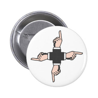 hands showing pointing hands pinback button