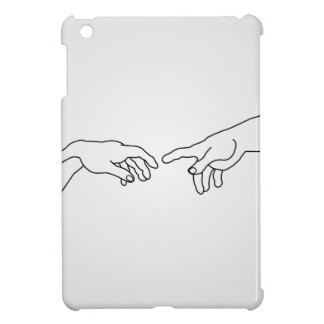Hands showing the creation of Adam iPad Mini Cases