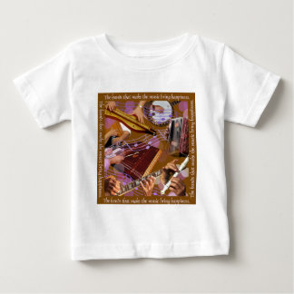 Hands That Make the Music ..Make Happiness (Brown) Baby T-Shirt