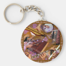 Hands That Make The Music ..make Happiness (brown) Keychain at Zazzle