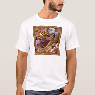 Hands That Make the Music ..Make Happiness (Brown) T-Shirt