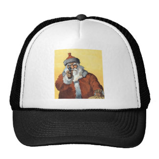 Hands Up! - As Santa Claus looks to some of us. Trucker Hat