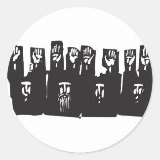Hands Up Classic Round Sticker