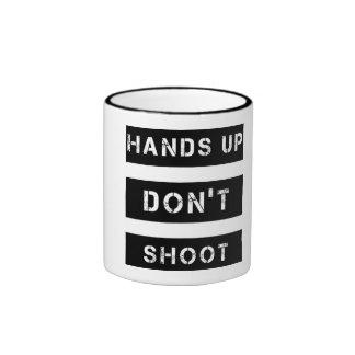 Hands Up Don't Shoot Black 11 oz Ringer Mug