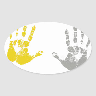 HANDS UP DONT SHOOT.png Oval Stickers