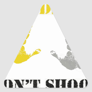 HANDS UP DONT SHOOT.png Triangle Sticker