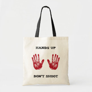 Hands Up Don't Shoot, Solidarity for Ferguson, Mo. Canvas Bag