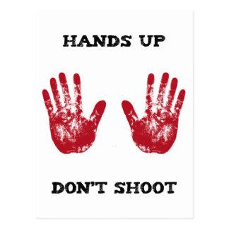 Hands Up Don't Shoot, Solidarity for Ferguson, Mo. Postcard