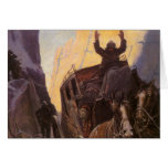 Hands Up! (Hold Up in the Canyon) by NC Wyeth Cards