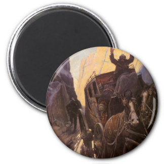 Hands Up! (Hold Up in the Canyon) by NC Wyeth Magnets