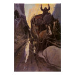 Hands Up! (Hold Up in the Canyon) by NC Wyeth Poster