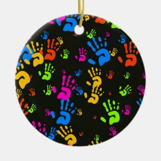 Hands Wallpaper Ceramic Ornament