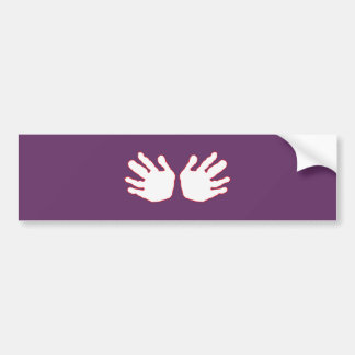 Hands White-Red The MUSEUM Zazzle Gifts Car Bumper Sticker