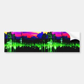 Hands Window Waves Architecture Decorative GIFTS 9 Bumper Sticker