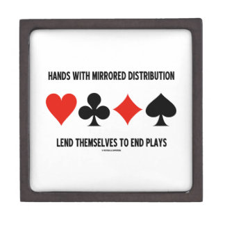 Hands With Mirrored Distribution Lend To End Plays Keepsake Box