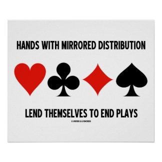 Hands With Mirrored Distribution Lend To End Plays Poster